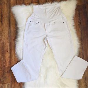 Gap Maternity  white crop jeans